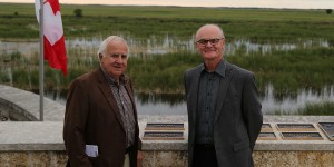 Bruce Batt (left) and Robert McLean, 2016 inductees of the North American Waterfowl Conservation Honour Roll