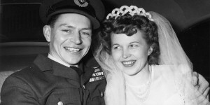 Stocky and Toni Edwards were married on February 3, 1951 in Vancouver. (Edwards collection)